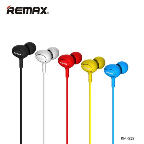 remax earphone with microphone 515 black jakartanotebook