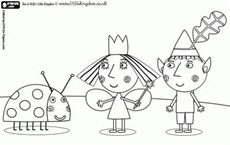 princess holly coloring page ben and hollys little kingdom coloring pages to print