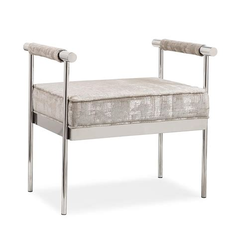 modern bedroom bench valentino silver upholstery modern bedroom bench