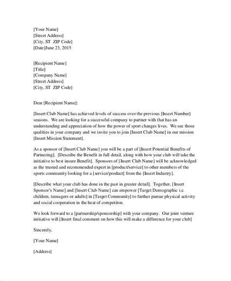 Business Letter Request For Sponsorship request letter templates 11 free sle exle format