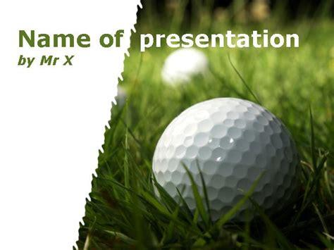 Golf Powerpoint Template by Golfball Auf Dem Rasen Powerpoint Vorlage Power Point