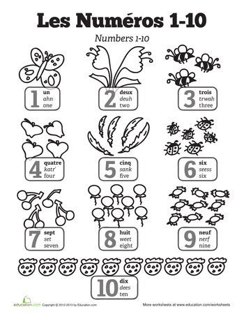 french numbers 1 20 printable worksheets french numbers 1 20 worksheets 1000 ideas about spanish