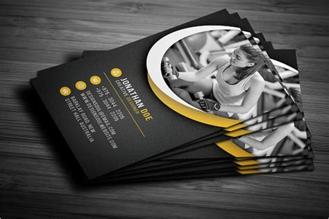 fitness business card templates free 59 business card templates free psd designs