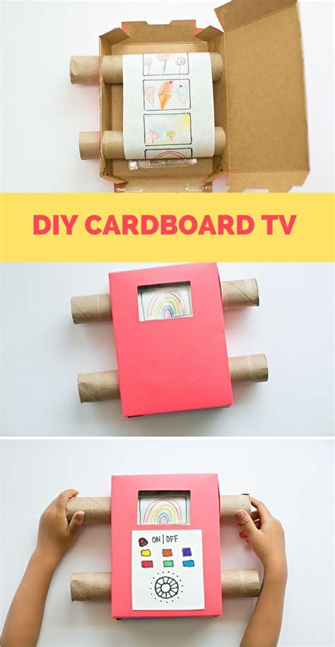 How To Make A Paper Tv - diy recycled cardboard tv show your with