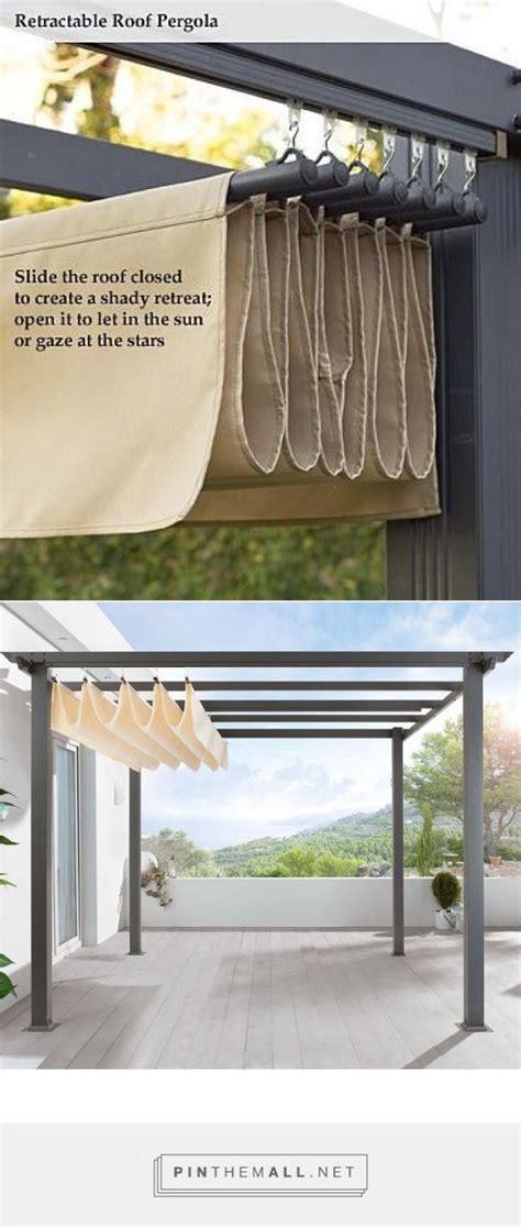 DIY Pergola Retractable roof shade http://www.uk