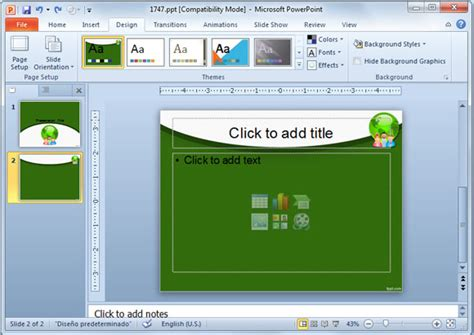 How To Revert To A Blank Template In Powerpoint Powerpoint 2010 Themes