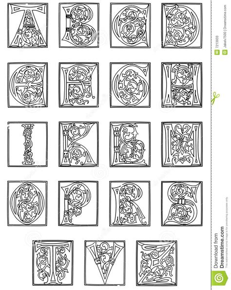printable illuminated alphabet search results for illuminated letters alphabet template