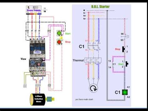 single phase starter connections doovi