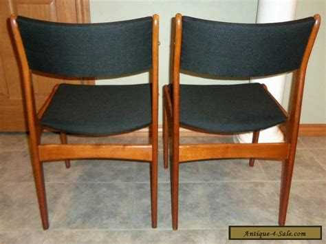 Teak Dining Chairs For Sale Pair Of Vintage Mid Century Modern Teak Dining Chairs For Sale In United States