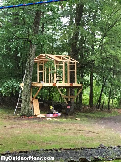 diy tree house myoutdoorplans  woodworking plans
