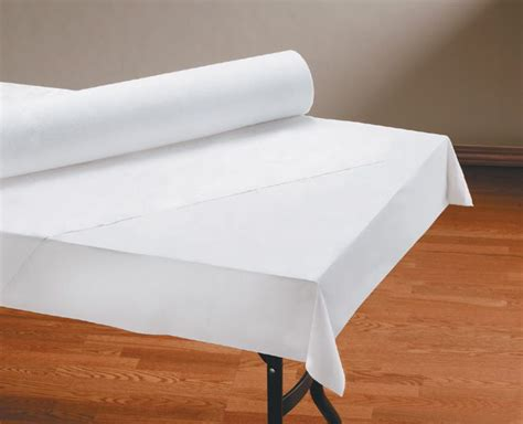 Paper Table Covers by White Linen Like Paper Table Cover Rolls Paper Shop