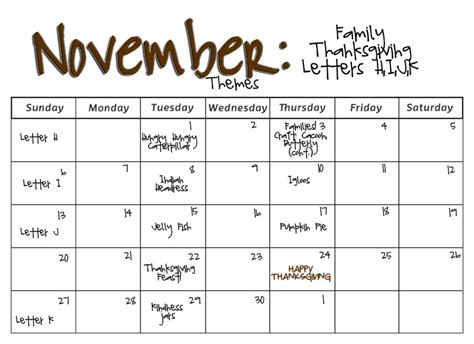 photo themes for november smarty pants preschool monthly calendars