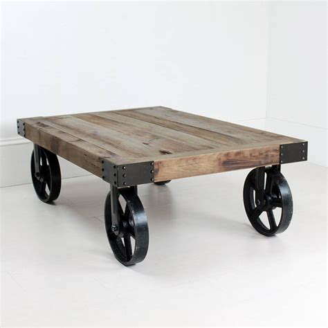 wheeled coffee table by out there interiors