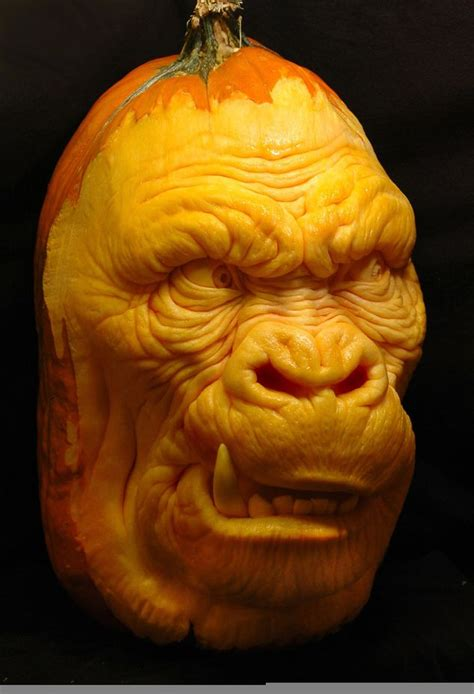 images of carved pumpkins horrors forget a standard o lantern and