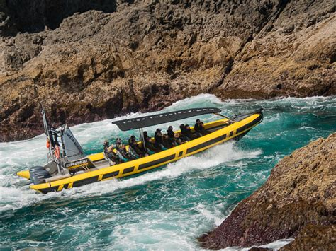 fast boat new zealand bay of islands fast boat to the hole in the rock paihia