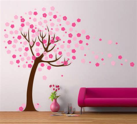 Handmade Wall Decor by Wall Decor Cherry Blossom Tree Wall Decal Modern Handmade
