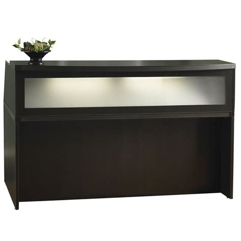 aberdeen 72 quot reception desk in mocha ardtcldc ard7236ldc kit
