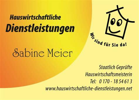 Visitenkarten Regensburg by Oberpfalz Hauswirtschaftliche Dienstleistungen