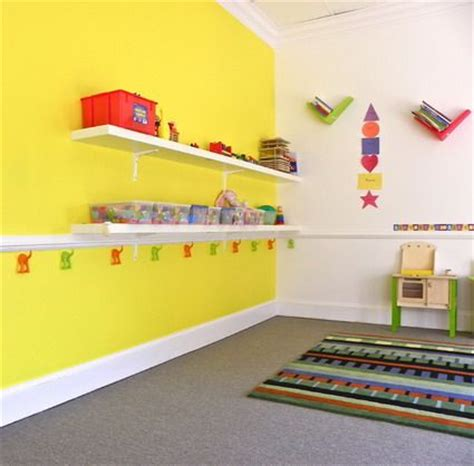 amazing wall storage and beautiful wall decorations in preschool and kindergarten classroom