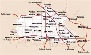 san fernando valley service area limo service locations