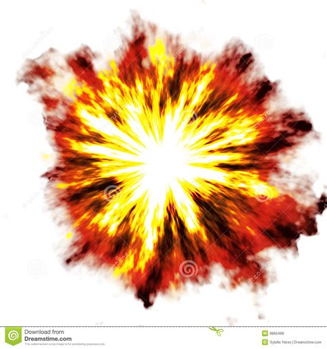 Explosion over white stock illustration. Illustration of ... Explosion White Background