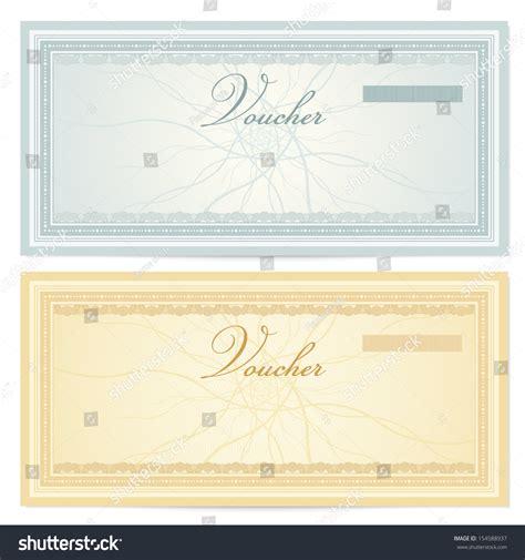 Gift Certificate Voucher Coupon Template Guilloche Stock Illustration 154588937 Shutterstock Watermark Template