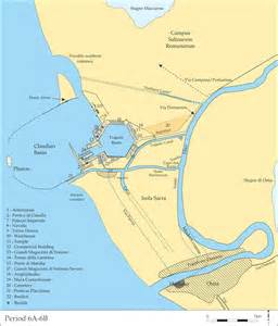 us port cities map rome s imperial port archaeology magazine