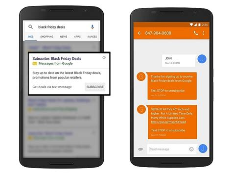 google starts testing sms based alerts  shopping deals technology news