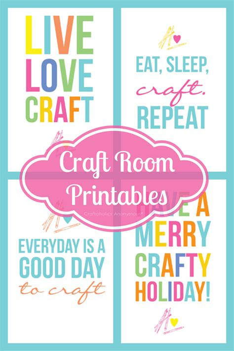 craftaholics anonymous 174 colorful free craft room printables