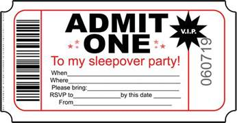 birthday invitations free printable invitations for sleepover