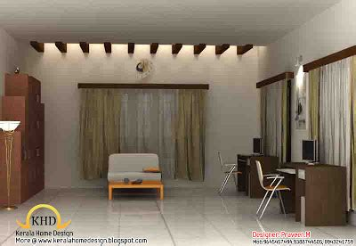 study room interior design 3d rendering view 3d house 3d rendering concept of interior designs kerala home