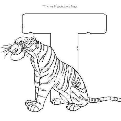 tiger family coloring page t is for tiger coloring page disney family