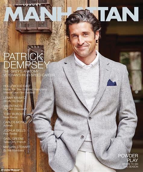 grey s anatomy actor has cancer patrick dempsey reveals secrets from the set of grey s