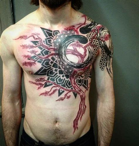 chest tattoo abstract abstract tree tattoo best tattoo ideas gallery