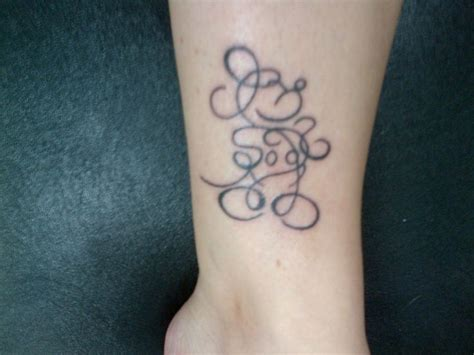 mickey mouse ears tattoo mickey mouse scribble tattoos