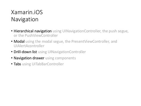 xamarin android layout params xamarin navigation patterns