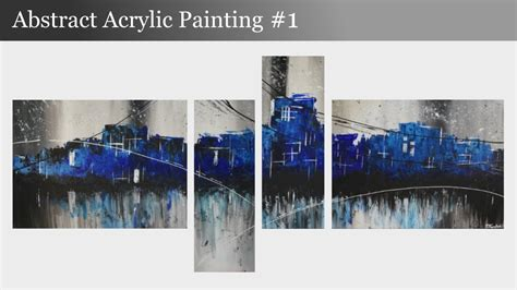 how to remove acrylic paint on a canvas abstract acrylic painting 1 abstract skyline by
