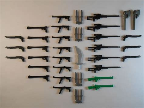 guns for lego minifigures lot of 39 new sniper rifle