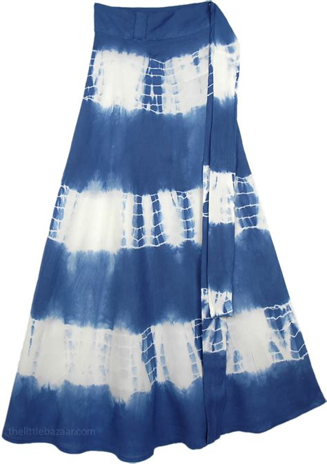 blue white tie dye skirt clothing sale on bags skirts