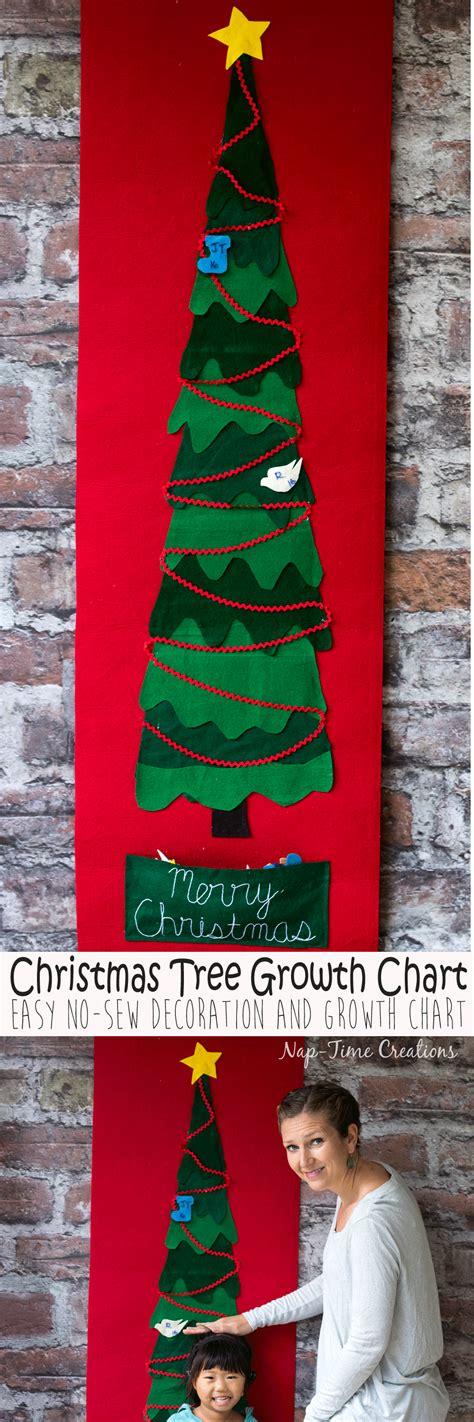 felt christmas tree growth chart a no sew project nap
