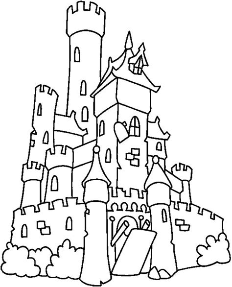 spooky castle coloring page free castle gate coloring pages