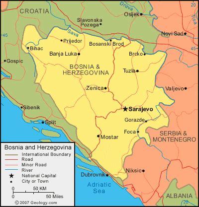 map of bosnia and herzegovina bosnia and herzegovina map and satellite image