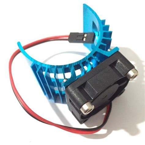 Cover Motor Cowok 1 on sale blue rc parts electric car motor heatsink cover cooling fan for 1 10 hsp rc car