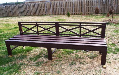 sturdy bench ana white modified sturdy bench and weatherly sofa diy