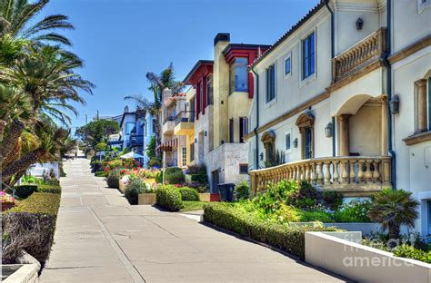 Waterfront Home Plans walk street manhattan beach ca photograph by david zanzinger
