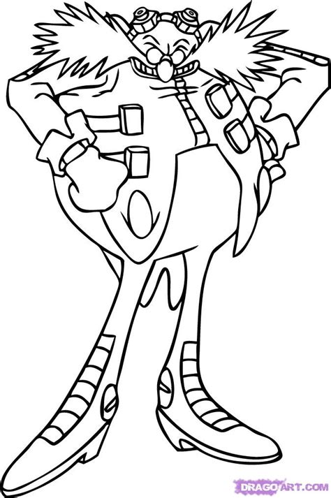 Dr Eggman Coloring Pages how to draw eggman step by step sonic characters pop