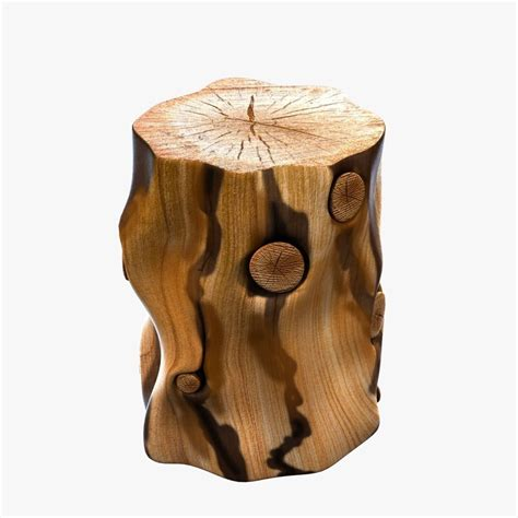 tree stump side table elm tree stump side table 3d model max obj