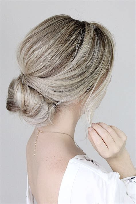 Simple Bun Hairstyles by Simple Bun Hair Tutorial Alex Gaboury