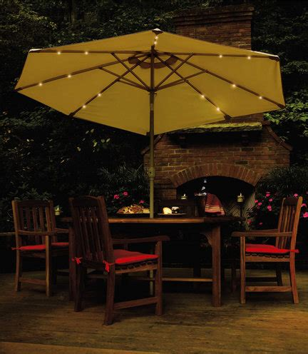 home depot umbrellas solar lights solar powered umbrellas light up nighttime events silive com