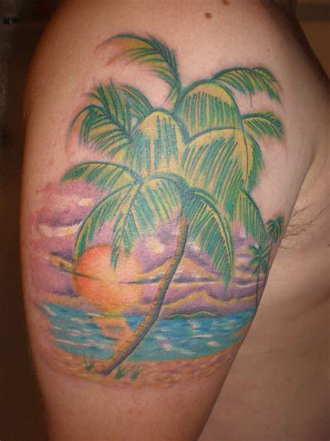 palm tree sunset tattoo designs tattoos designs ideas and meaning tattoos for you
